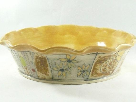 Ceramic Stoneware Baking : Pie baking pan pottery bakeware ceramic by