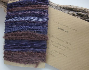 Large Bramble Natural Dye Purple Textured Thread Pack