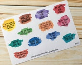 Positive Affirmation Paint Splatter Planner Stickers (ID500)