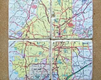 Atlanta Georgia Map Coasters