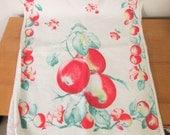 vintage peach tea towel