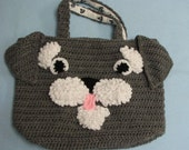 Schnauzer Tote. Purse, Bag Crochet Pattern In USA Terms, PDF, Digital Download