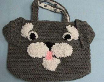 Crochet Pattern - Schnauzer Tote. Purse, Bag Crochet Pattern - Tote Pattern - Animal Tote Pattern - Schnauzer Pattern - Digital Download