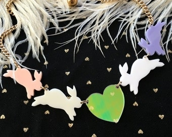 Pastel Bunny Love Necklace