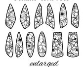 Pattern for Etching Medium Size Earrings Instant Digital Download