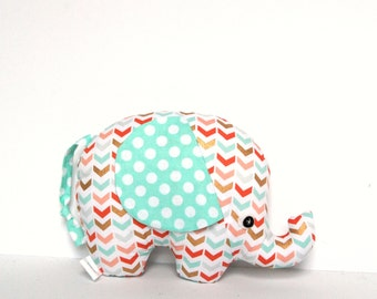 Plush Elephant Softie, Elephant Stuffie, Soft Baby Toy Stuffed Animal
