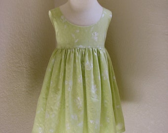 Pullover Green Cotton Dress, Size 3, Medium