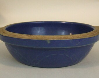 VINTAGE Blue Monmouth CHAIN link Milk casserole dish (no lid)