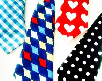 Neck Tie for Dogs:  Dog Clothes Hipster Pet Neckwear Plaid Multiple Colors You Choose One