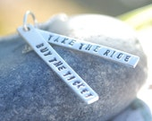 Wanderlust Quote - Hunter S Thompson - handcrafted handmade sterling silver necklace by Chocolate and Steel