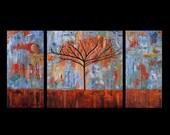Join 524 collectors worldwide, Original Art for Sale, Fine Art, Metal Artwork, Abstract Landscape,Modern, Copper,Prince Change Courage