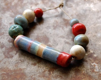 River / Ceramic Bead Set