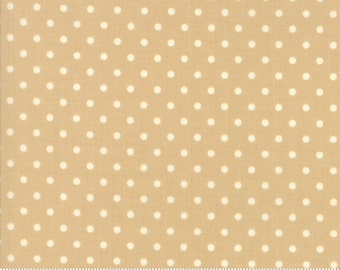 Chestnut Street - Polka Dot in Chestnut: sku 20276-15 cotton quilting fabric by Fig Tree and Co. for Moda Fabrics - 1 yard