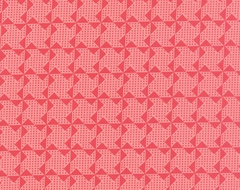 SALE - Gooseberry - Pinwheels in Petal Pink: sku 5014-12 cotton quilting fabric by Lella Boutique for Moda Fabrics - 1 yard