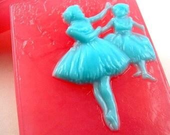 Ballerina Soap, Edgar Degas Two Dancers Artisan Soap, Gift for Dancer