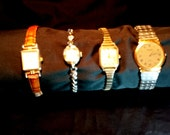 Wrist Watches, Vintage Women and Men Watches, Ladies Elgin, Carriage, Criterion and Mens Raymond Neil, Collectible Watches