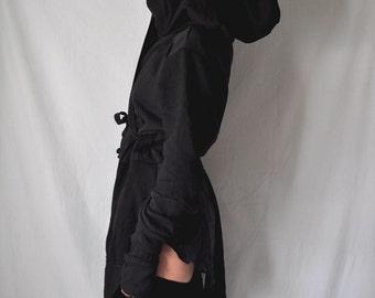 belted hoodie // chrysalis