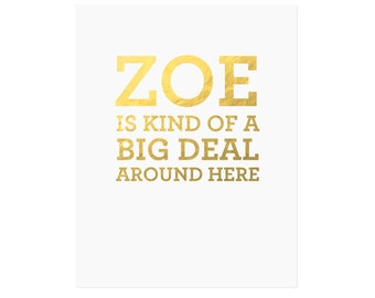 Big Deal Art Print, Customizable