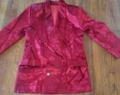 Vintage Red Velvet Jacket sz42