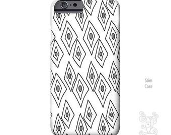 Geometric phone case, iPhone 7 Case, Galaxy S7 case, black and white Art, iPhone 6s case, iPhone Case, iPhone 5S case, iPhone 6s Plus Case