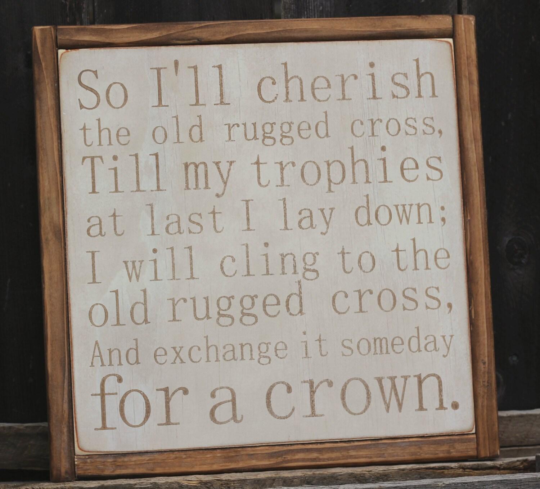 Made To Order The Old Rugged Cross Church Hymn Lyrics Home