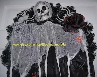 Grim Reaper Halloween Wreath