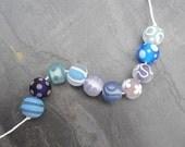 Summer Sky Softies - SRA handmade glass lampwork beads - Lori&Kim