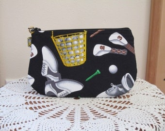 Golf Tee Bag Clutch Wristlet Zipper Gadget Pouch Smart Phone Bag