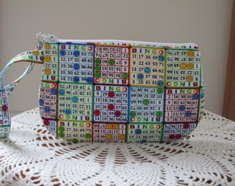 BINGO Bag Clutch Wristlet Zipper Gadget Pouch