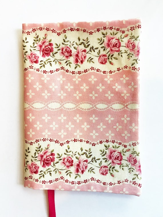 Book Cover Flower : Fabric paperback book cover pink flower by momssewingroom