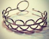 Mermaid Bangle Bracelet in Sterling Silver w/Circle Latch Clasp