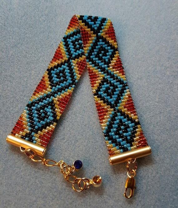Zig Zag Jewellery: Colorful Zig-zag Bracelet By MoonriseCreations On Etsy