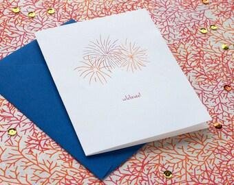 Celebrate - letterpress card