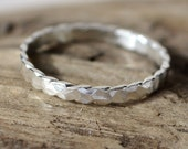 Hammered Scalloped Ring Size 8.5