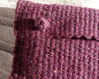 Hand woven Dark Purple Book Bag (protective sleeve)