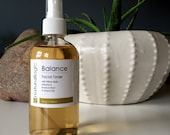 Balance Facial Toner. Toning Mist. Neroli. Geranium. Natural Organic Chemical Free Non Toxic Skin Care. Vegan.