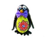Penguin sculpture, Penguin Art, Modern Penguin, Christmas gift, collectible Penguin, Penguin ornament, Christmas decoration