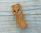 Bacon Feltie- Planner Clip, Magnet or Hairclip (bookmark, planner or journal clip)