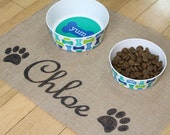 Custom puppy dog pet place mat