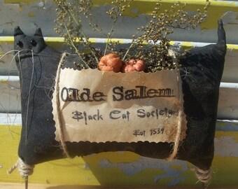 PreHalloweenSale Primitive Halloween Olde Salem Black  Cat