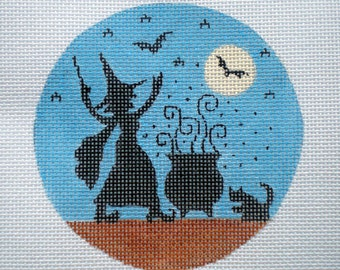 """Handpainted needlepoint canvas """" Let the Magic Begin"""""""
