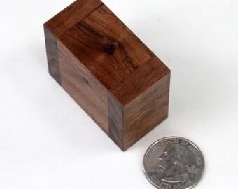 Walnut Engagement Ring Box, Wedding Ring Box, Single Ring Box, Double Ring Box