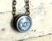 Vintage Firemans button  necklace jewelry  vintage repurposed firefighters coat button authentic memorabilia