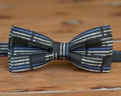 Boys police support bow tie - black blue American flag cotton bowtie - law enforcement, supporters bow tie - policeman - Thin Blue Line