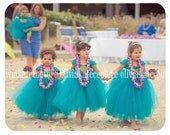 Juliet Flower Girl Dress, Teal Dress, Flower Girl, Tutu Dress, Tulle Dress, Girls party Dress, baby dress, couture