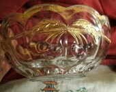 Antique - Early American - Northwood - Pressed Glass - LARGE Bowl - Cherries - Gold - More Northwood Listed!