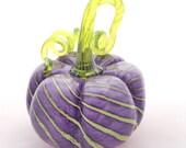 Lavender With Love - Hand Blown Glass Pumpkin