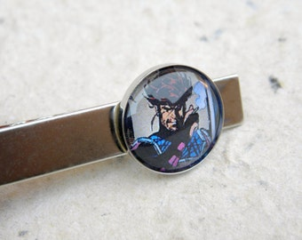 Gambit Tie Clip - Remy LeBeau - Great for X Men X-Men Comic Book Fan - Can also be made into cufflinks, necklace, keychain