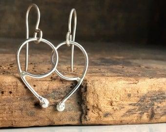 Sterling Silver Hoops, Hoop Earrings, Unique Hoops, Artisan Earrings, Minimal Earrings, Modern Earrings