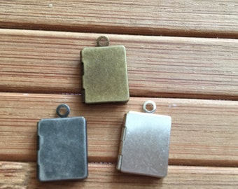 Mini Plain Book locket 10x13mm - Code 151.637